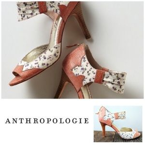 Miss Albright Anthro retro pinup floral heels